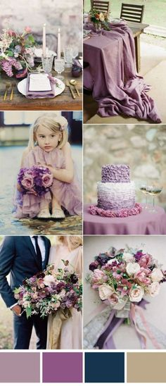 mauve wedding elegant purple mauve and navy wedding color paletts, purple wedding cakes with ruffle, Navy Wedding Colors, Mauve Wedding, Wedding Color Schemes, Fall Wedding, Wedding Flowers, Dream Wedding, Forest Wedding, Trendy Wedding, Colors For Weddings