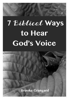 Learning to hear the voice of God literally revolutionized the way I did life. This is one way in which we can and should hear from God.