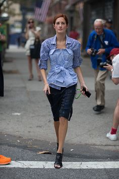 Love this:  TTH and Bill Cunningham in the back! NYFW.