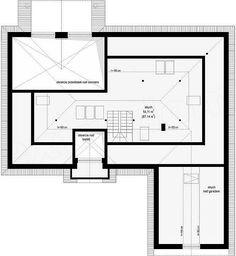Projekt domu Willa parkowa 3 209,86 m2 - koszt budowy - EXTRADOM Bungalow, Floor Plans, Bill Gates, Behance, House, Two Story Houses, House Construction Plan, Home, Homes