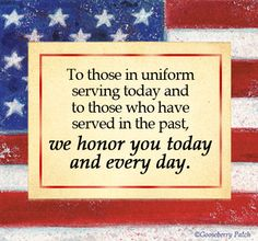 Thanks to the men and women who keep our country safe<3