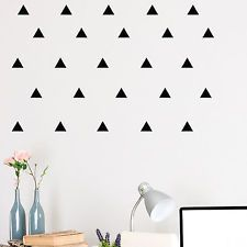Set of 60 Mini Triangle Wall Stickers Decal Vinyl Art Decor - Design Pack