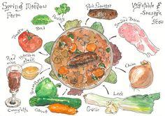 Food – Page 2 – Matthew Midgley Illustration Recipe Graphic, Vegetable Farming, Stewed Tomatoes, Drawing Sketches, Drawings, Food Art, Illustrators, Food Photography, Bacon