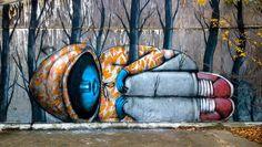 Seth | Vea estas fantásticas obras de arte urbano! #decorarunacasa   #arteurbano   #bansky