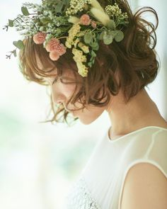 natsumi.maki〜hair&makeup〜さんはInstagramを利用しています:「先日、作品撮り致しました♡ 作りたいスタイルのイメージにピッタリのモデルさん✨ 可愛すぎて…♡ ヘアメイクが楽しい♪ 素敵な作品撮りができました📷 Photographer @keitasawa.photo model @kikimeppo #ヘアメイク #美容…」 Cute Hairstyles For Short Hair, Winter Hairstyles, Wedding Hairstyles, Short Hair Styles, Short Wedding Hair, Natural Beauty Tips, Floral Hair, Hair Inspiration, Beauty Hacks
