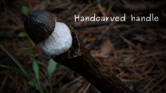 Mushroom Knife With Carved Handle And Recycled Blade | Bored Panda