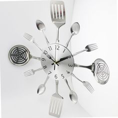 TOO COOL: Modern Cutlery Ki.... Lowest Price Here: http://www.rousetheroom.com/products/modern-cutlery-kitchen-utensils-wall-clock?utm_campaign=social_autopilot&utm_source=pin&utm_medium=pin