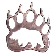 wooden grizzly bear paw print pendant - Google Search More
