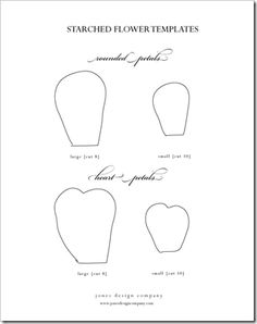 flower petal template. Print out and use as template for duct tape flowers