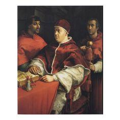 Portrait of Leo X by Raphael - Canvas - decor gifts diy home & living cyo giftidea
