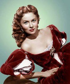 Red velvet period costume