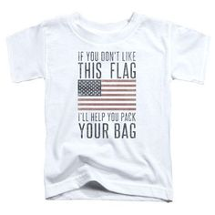 "American Pride ""Pack Your Bag"" White Hoodie - Adult & Youth"
