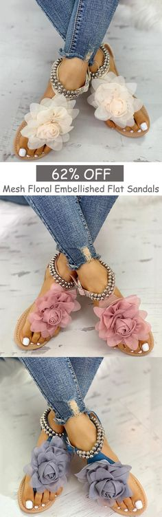 Shop Now > Summer Casual Sandals & Slippers, Up to OFF < Styles for your choice Cute Sandals, Flat Sandals, Cute Shoes, Me Too Shoes, Shoes Sandals, Flats, Dream Shoes, Fashion Shoes, Shoe Boots