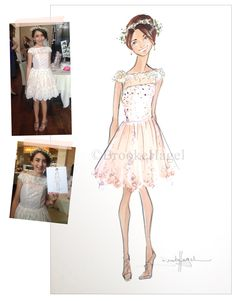 Custom Fashion Illustration Graduation Prom Gift by brooklit