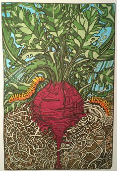 From *Manic Botanic* coloring book by Irina Vinnik.