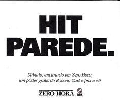 Anúncio para o pôster do Roberto Carlos encartado na edição do jornal Zero Hora. Prata no Salão ARP.