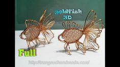 3D goldfish pendant with big Rose Quartz with no holes - full version ( ...