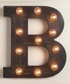 Wood Marquee Letter B