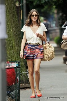 Love these dressed-up printed shorts from Parker for hot summer days.