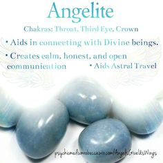Angelite crystal meaning Crystal Guide, Crystal Magic, Healing Crystal Jewelry, Crystal Healing Stones, Chakra Crystals, Crystals Minerals, Crystals And Gemstones, Stones And Crystals, Blue Stones