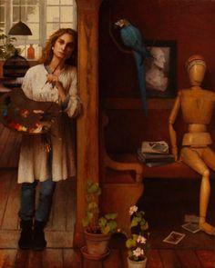 Louise C. Fenne - Self Portrait in Studio