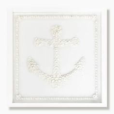 Shell Anchor Collection - White Shell Anchor Framed