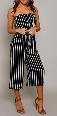 Two tone vertical striped jumper