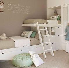 Si tus hijos tienen que compartir cuarto... Te damos todas las soluciones.