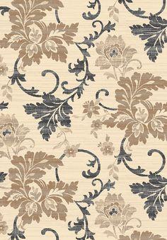 Bahariye Platin BT 3105 kahve  bahariye halı online satış Fabric Wallpaper, Pattern Wallpaper, Wallpaper Backgrounds, Wallpapers, Textile Patterns, Textiles, Cotton Lawn Fabric, Victorian Flowers, Royal Design