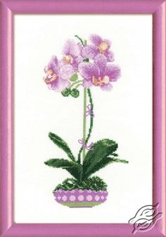 Lilac orchid - Cross Stitch Kits by RIOLIS - 1163