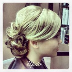 prom hair style messy bun  updo