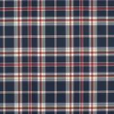 Tisbury Madras - Navy - Plaids - Fabric - Products - Ralph Lauren Home - RalphLaurenHome.com
