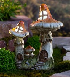 Solar Two Mushroom Fairy House