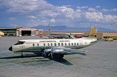 Continental Airlines Viscount at Albiquerque Airport
