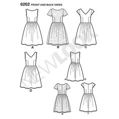 New Look Pattern 6262 Misses' Dress with Neckline Variations