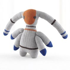 "The Land of Nod Stupid Sock Creature Zeek: Designed by artist John Murphy (who was inspired by a bag of spare socks he had collected!) for The Land of Nod, Zeek, the Stupid Sock Creature ($35, originally $49) is ""soft, cuddly, strangely weird, yet lovable."""