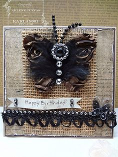 Love the contrast of the burlap and the bling
