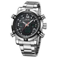 LCD Digital Watch Commando Luminous Male Clock Quartz  Waterproof Relogio Masculino Famous Men Watches 2017 WEIDE Luxury Brand  #Affiliate