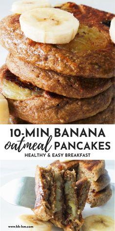 Oatmeal Pancakes Easy, Breakfast Pancakes, Healthy Banana Pancakes, Pancakes For One, Oatmeal With Banana, Low Calorie Pancakes, Flourless Banana Pancakes, Sugar Free Pancakes, Banana Breakfast Recipes