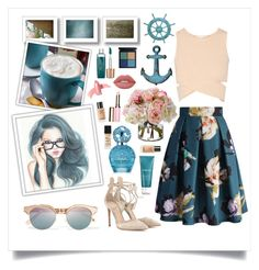 """""""Teal & Pink"""" by angelstylee ❤ liked on Polyvore featuring Le Specs, Chicwish, Jonathan Simkhai, Gianvito Rossi, Diane James, Pier 1 Imports, Payot, Marc Jacobs, NARS Cosmetics and Elizabeth Arden"""