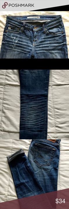 Big Star Jean perfection THE PERFECT DENIM!!! This color and the worn detail goes with ANYTHING!!! Big Star Jeans Skinny