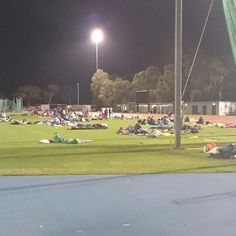 Early morning wake up at the Canberra community sleepout 2015