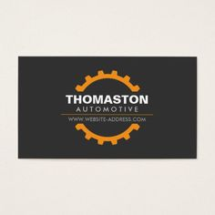 313 best auto repair business cards images on pinterest business orange automotive gear auto repair mechanic business card colourmoves