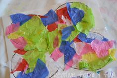 Get Crafty: Layered Tissue Paper Butterflies ~ Creative Family Fun