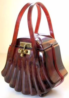1950s Ranhill Corp. Lucite Fan Shaped bag.