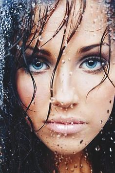 """""""The eyes are one of the most powerful tools a woman can have. With one look, she can relay the most intimate message. After the connection is made, words cease to exist. """" ― Jennifer Salaiz. #Sexy & #seducing #blue www.goachi.com"""