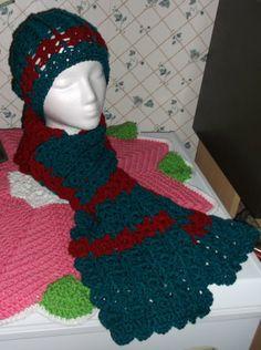 Crochet Scarf and Hat Handmade