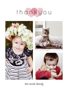 Thank your family and friends with this simple #thankyou card that is customizable with your own text & images and you can also choose your own colors! | CatPrint Design #480