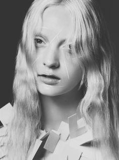 "stormtrooperfashion:  Codie Young in ""White Wanderer"" bySarah PiantadosiforRika Magazine,Fall/Winter 2014"