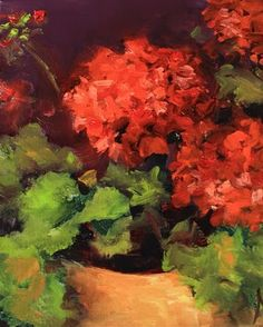 'Geranium Still Life' by Nancy Medina